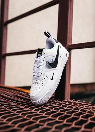Кроссовки найк женские форсы аир форс кеды обувь nike air force black white