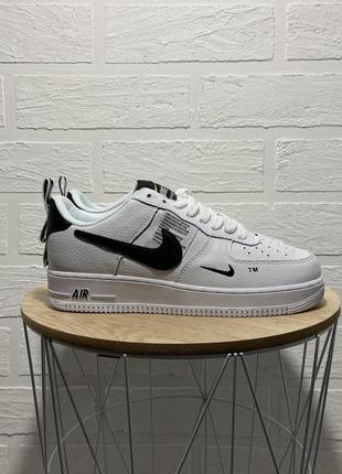 Nike air force white black кроссовки найк женские форсы аир форс кеды обувь взуття