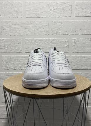 Nike air force white black кроссовки найк женские форсы аир форс кеды обувь взуття6 фото