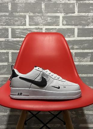 Nike air force white black кроссовки найк женские форсы аир форс кеды обувь взуття2 фото