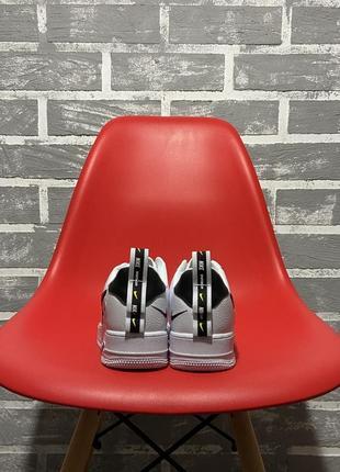 Nike air force white black кроссовки найк женские форсы аир форс кеды обувь взуття4 фото