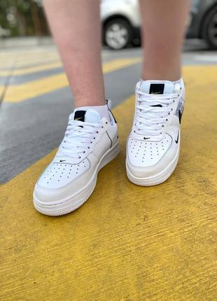 Nike air force black white кроссовки найк женские форсы аир форс кеды9 фото