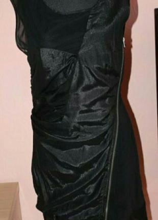 Платье с сеткой 46р.