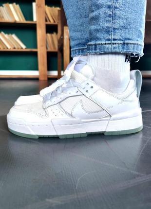 Nike dunk whiteкроссовки найк женские аир форс кеды данк данки