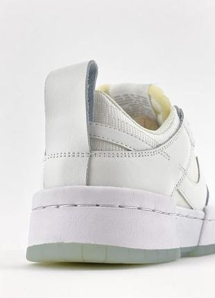 Nike sb dunk white кроссовки женские найк данк кеды6 фото