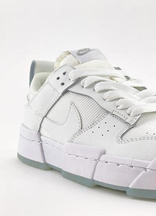 Nike sb dunk white кроссовки женские найк данк кеды