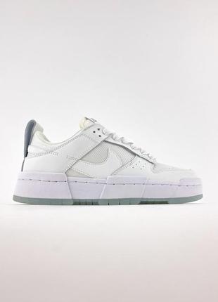 Nike sb dunk white кроссовки женские найк данк кеды5 фото
