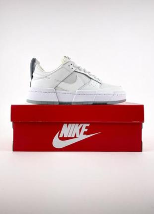 Nike sb dunk white кроссовки женские найк данк кеды7 фото
