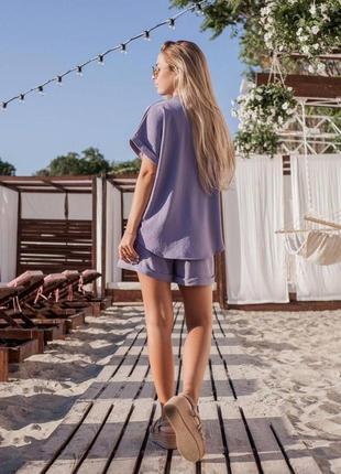 Цвета‼️костюм женский шорты футболка блуза рубаха