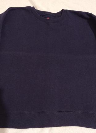 Hanes premium темно-синяя хлопковая кофта с начесом