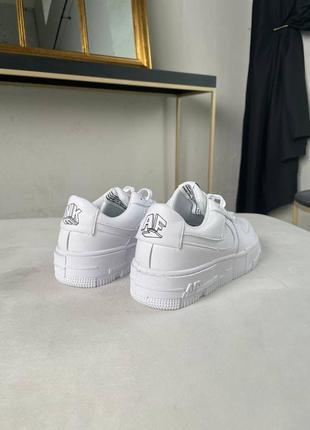 Nike air force pixel white кроссовки найк женские форсы аир форс кеды пиксель обувь2 фото