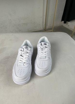 Nike air force pixel white кроссовки найк женские форсы аир форс кеды пиксель обувь3 фото