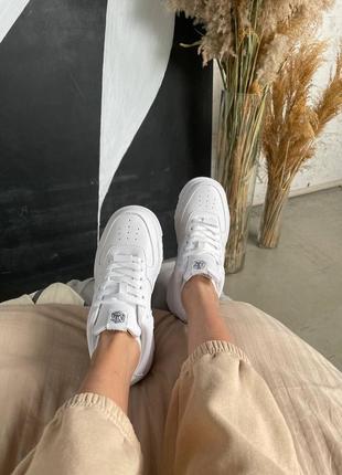 Nike air force pixel white кроссовки найк женские форсы аир форс кеды пиксель обувь7 фото