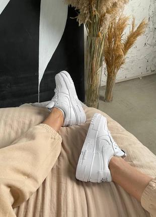 Nike air force pixel white кроссовки найк женские форсы аир форс кеды пиксель обувь8 фото