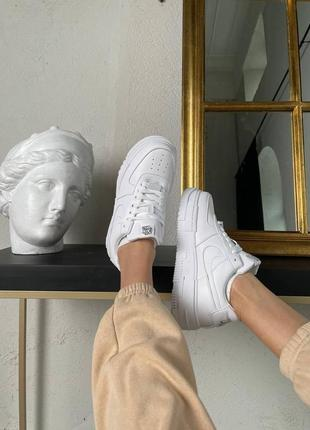 Nike air force pixel white кроссовки найк женские форсы аир форс кеды пиксель обувь5 фото