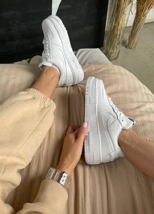 Nike air force pixel white кроссовки найк женские форсы аир форс кеды пиксель обувь