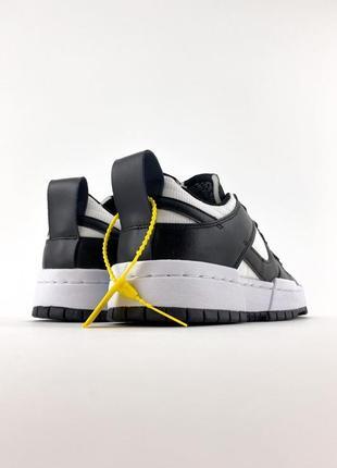 Nike sb dunk black white кроссовки найк женские форсы сб данк данки обувь кеды3 фото