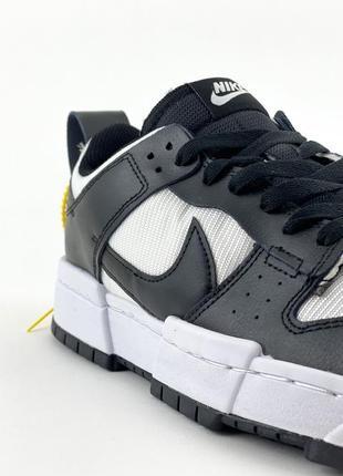 Nike sb dunk black white кроссовки найк женские форсы сб данк данки обувь кеды6 фото