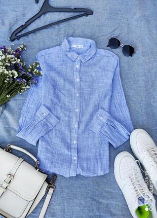 Сорочка блузка голубая рубашка женская блюзка блуза топ кофта1 фото
