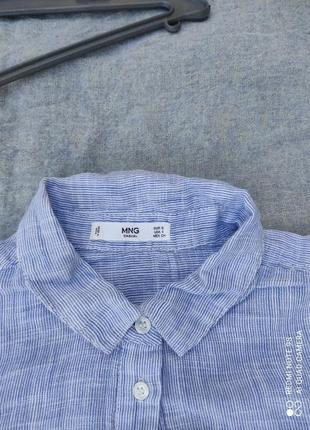 Сорочка блузка голубая рубашка женская блюзка блуза топ кофта2 фото