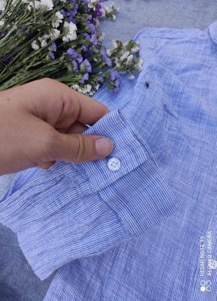 Сорочка блузка голубая рубашка женская блюзка блуза топ кофта4 фото