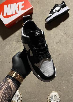 Кроссовки найк женские nike sb dunk black white обувь кеды данки7 фото