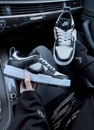 Nike sb dunk black white кроссовки найк женские форсы аир форс кеды данки