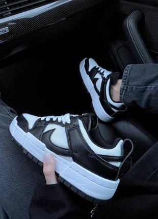Nike sb dunk black white кроссовки найк женские форсы аир форс кеды данки7 фото