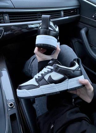 Nike sb dunk black white кроссовки найк женские форсы аир форс кеды данки4 фото