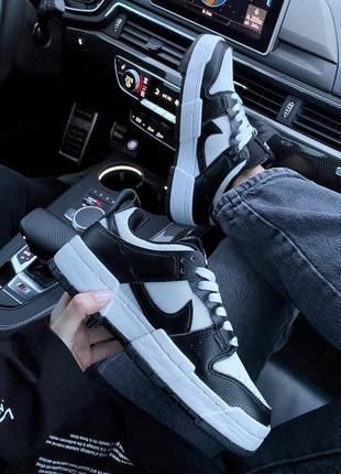 Nike sb dunk black white кроссовки найк женские форсы аир форс кеды данки8 фото
