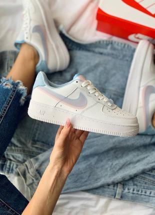 Nike air force 1 double swoosh lv8 кроссовки найк женские форсы аир форс кеды