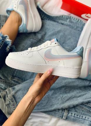 Nike air force 1 double swoosh lv8 кроссовки найк женские форсы аир форс кеды2 фото