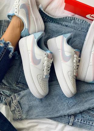 Nike air force 1 double swoosh lv8 кроссовки найк женские форсы аир форс кеды6 фото