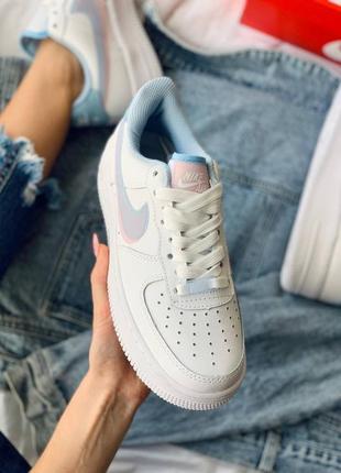 Nike air force 1 double swoosh lv8 кроссовки найк женские форсы аир форс кеды3 фото