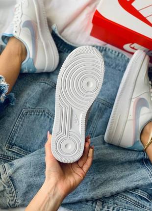 Nike air force 1 double swoosh lv8 кроссовки найк женские форсы аир форс кеды5 фото