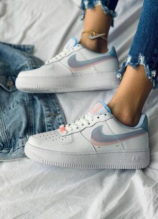 Nike air force 1 double swoosh lv8 кроссовки найк женские форсы аир форс кеды8 фото