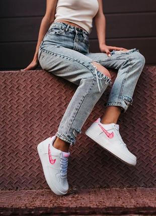 Nike air force love кроссовки найк женские форсы аир форс кеды обувь взуття5 фото
