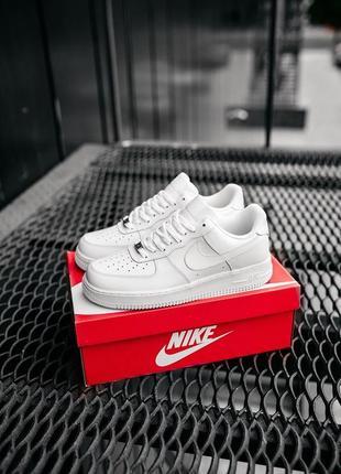 Nike air force full white classic кроссовки найк женские форсы аир форс кеды классические