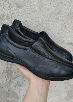 P.35 ecco (оригинал) кожаные туфли кроссовки.