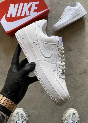 Кроссовки nike air force white classic женские аир форс кеды обувь