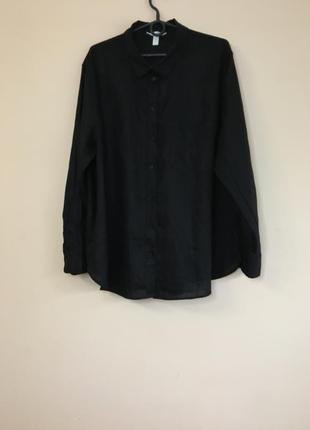 Льняная рубашка hm