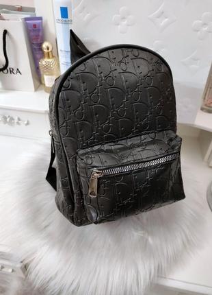 Модный женский черный рюкзак