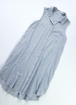 Стильное платье -рубашка zara