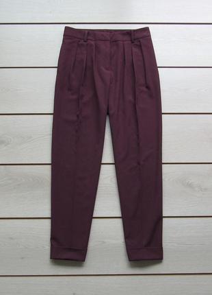 Укороченные брюки бананы со стрелками защипами от benetton