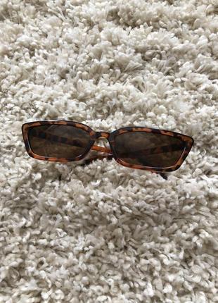 Леопардовые очки женские коричневые солнцезащитные очки