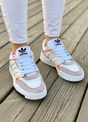 Кроссовки adidas drop step 'white grey'