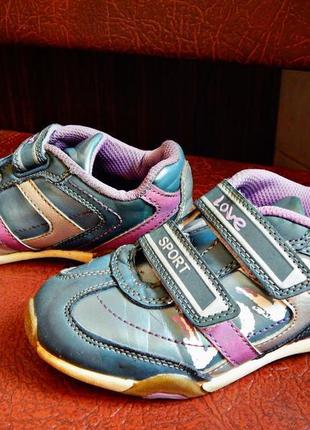 Стильные качественные кроссовки на девочку на ногу 16,5-17.0 см💖 