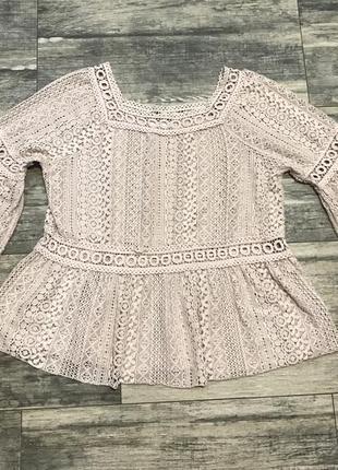 Красивая кружевная блузка италия ❤️❤️