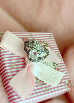 Серебряное кольцо срібна каблучка 925 проба украина цирконий круг цвет