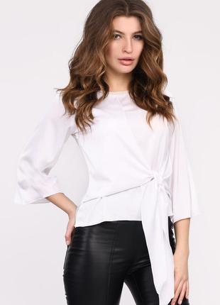 Шелковая белая блузка | 49171